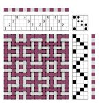 Margaret Windeknecht's drafts for rosepath twill and shadow weave
