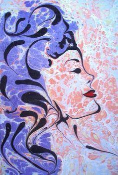 Ebru sanatçısı Esengül İnalpulat Ebru sanatı Marbling art Artist Esengül İnalpulat   www.artmajeur.com/kirmizi www.facebook.com/ebruisligi