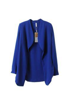 Boyfriend Style Blue Suit [NCSUI0004] - $53.99 :  romwe.com