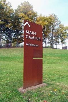 845 best images about Design- Signage Shop Signage, Wayfinding Signage, Signage Design, Office Signage, Driveway Sign, Spring Arbor, Architectural Signage, Monument Signs, Sign System