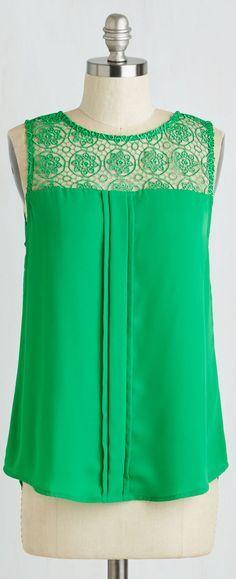 lace yole pleat front blouse