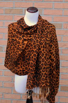 Leopard Print Pashmina Scarf Wrap from Chicastic Leopard Print Wedding, Pashmina Scarf, Clutch Purse, Scarf Wrap, Turtle Neck, Sweaters, Animals, Clothes, Fashion