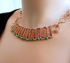 Copper Weave Necklace On