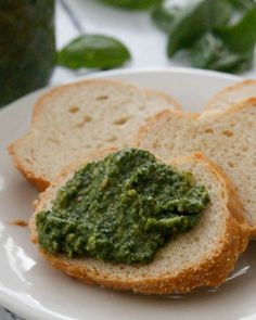 Fresh Basil Pesto-just a few ingredients and you've got a fresh pesto, perfect as a spread or use in your favorite dishes, pasta, fish, chicken and more!