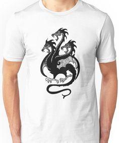 65673712 Targaryen Sigil - 3 Headed Dragon Unisex T-Shirt 3 Headed Dragon, Rivers,
