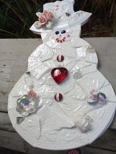 Ms Rosie - Mosaic Snow Lady | Flickr - Photo Sharing!
