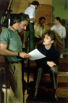 """Stephen Sondheim and Bernadette Peters, a musical combo that is pure magic, working on """"Sunday In The Park With George"""""""