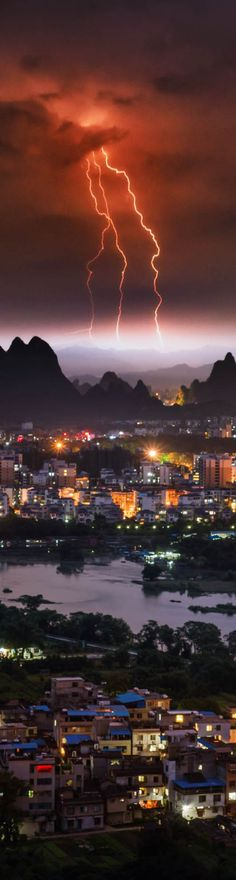 Spirestorm in Southern China - photo from #treyratcliff Trey Ratcliff at http://www.StuckInCustoms.com  #Guilin