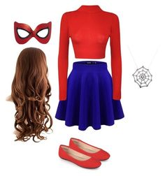 """""""spider girl costume"""" by katlove280 ❤ liked on Polyvore featuring WearAll and Journee Collection"""