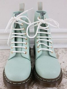 Pastel blue doc martens.  If you have these, i'm coming for you.