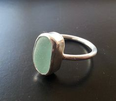 Sea Glass Ring Sea Glass Jewelry Sterling by JulieAndersonDesign, $55.00