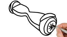 How to Draw a Hoverboard (GyroScooter) Easy Drawing Tutorial Easy Drawings For Beginners, Simple Art, Learn To Draw, Art Tutorials, Learn How To Draw, Art Lessons, Learn To Paint, Drawing Tutorials