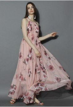Pink Rose Panache Maxi Slip Dress - Maxi - Dress - Retro, Indie and Unique Fashion