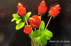 Bouquet di rose di fragole