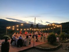 https://flic.kr/p/BcS7ED | Castello del Trebbio - Tuscany - Dinner zone with Fairy lights from Betty Dj Staff