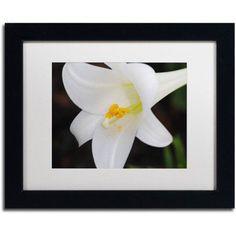 Trademark Fine Art Easter Canvas Art by Monica Mize, White Matte, Black Frame, Size: 11 x 14