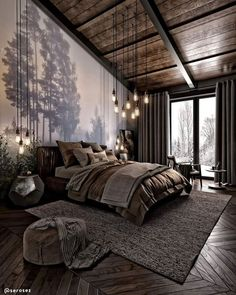Dark Cozy Bedroom, Bedroom Modern, Contemporary Bedroom, Kitchen Contemporary, Bedroom Small, Bedroom Rustic, Bedroom Country, Bedroom Romantic, Rustic Bedding