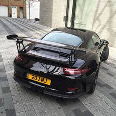 Porsche 991 GT3 RS painted in Black  Photo taken by: @anjumwaheed7 on Instagram (He is also the owner of the car)