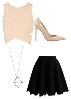 """Fancy dress night in the town"" by projectalice5 on Polyvore featuring Jonathan Simkhai, Chicwish and Gianvito Rossi"