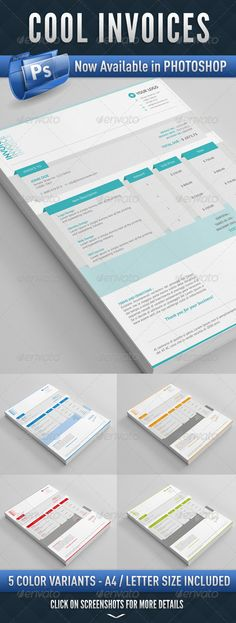 Invoice Template - proposal cover page design