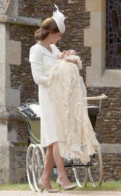Kate Middleton & Princess Charlotte from Princess Charlotte's 2015 Christening