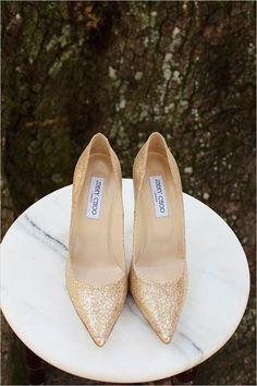 gold Jimmy Choo shoes
