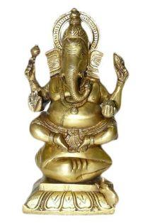 Lord Ganesha Statues Murti Idol Hindu God Statue Brass Sculpture by Mogul Interior, http://www.amazon.com/dp/B00CHG8124/ref=cm_sw_r_pi_dp_SV9Mrb0M730SW