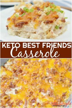 CLICK PIN FOR FULL RECIPE Keto Best Friends Casserole is one of those keto make ahead meals that is perfect for meal prep, intentional leftovers, pot lucks or school functions. Adapted from a traditional loaded keto cauliflower casserole recipe. Keto Cauliflower Casserole, Keto Chicken Casserole, Keto Chicken Salad, Casserole Recipes, Cena Keto, Low Carb Casseroles, Make Ahead Meals, The Ranch, Low Carb Food
