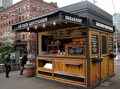 Food Inspiration A food kiosk can be inserted into these pedestrian plazas as well