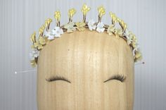 Bridal wax flower & stamens crown / 1920s by PapillonsDeLeticia, £110.00