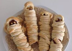 Sausage Mummies for Halloween Recipe -  Let's try to make Sausage Mummies for Halloween in our home!