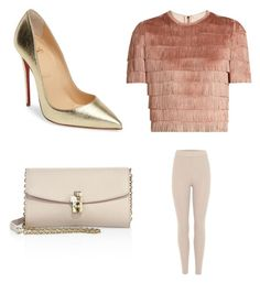 """""""Perfect drinks outfit"""" by banbangotit on Polyvore featuring Raey, adidas Originals, Dolce&Gabbana and Christian Louboutin"""