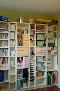 Merveilleux IKEA Billy Bookcases For Crafting Supplies And Tools.