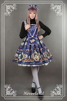 Midnight Theater Bead Chain Jumper Skirt - $77.59 : Soufflesong,An Indie Lolita Fashion ,Gothic Vintage Brand