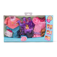 """Faith Baby Alive Baby Doll Reversible Outfits - Funrise - Toys""""R""""Us Baby Alive Doll Clothes, Baby Alive Dolls, Baby Dolls, Muñeca Baby Alive, Baby Doll Diaper Bag, Baby Doll Accessories, All Toys, Kids Store, My Little Girl"""