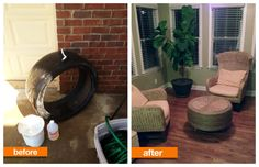 Got to admit it's a clever way to recycle an old tire...