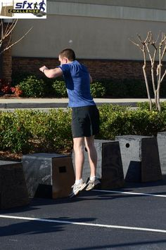 """Our Partners at SFX of Roswell tell us about the benefits of:    Box Jumps  Plyometric exercises are a great way to develop explosive power quickly and box jumps are at the center of this.  Boxes can come in various sizes from 6"""" to 36"""" and even higher depending on your fitness level. The speed at which you jump can help determine the intensity of the exercise."""