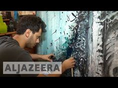 Lebanese artist challenges sectarianism through work - YouTube