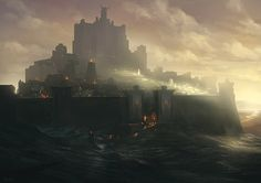 Noah Bradley Concept Art Beautiful, beautiful control of dramatic lighting.