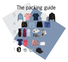 """The 5,4,3,2,1 packing guide"" by livstar1 on Polyvore featuring Miss Selfridge, Uniqlo, New Look, Topshop, River Island, Dorothy Perkins, adidas, TravelSmith, Lisa Marie Fernandez and Tommy Hilfiger"