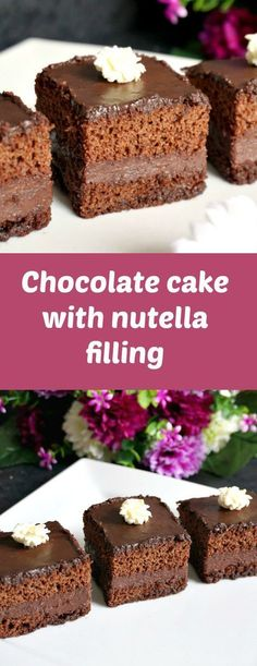 Hands up those of you who like nutella! I have this amazing Chocolate cake with nutella filling, chocolate ganache glaze and whipped cream or Romanian Amandine, a fantastic dessert recipe that tastes like heaven. Don't believe me, just try!