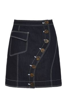 Golding denim mini skirt by ACLER for Preorder on Moda Operandi Skirt Outfits, Cool Outfits, Fashion Outfits, Cute Skirts, Mini Skirts, Corset Blouse, A Line Denim Skirt, Casual Day Dresses, Denim Ideas