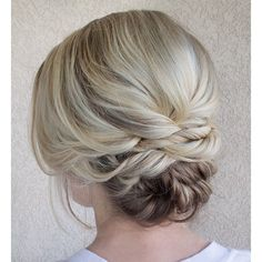 """Simple blonde updo. #hairandmakeupbysteph"""