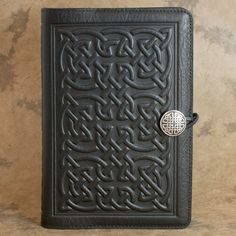 Bold Celtic Moleskine Leather Journal Covers with Pewter Clasp by Oberon design.