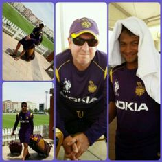 The #Knights are ready for the battle tomorrow beating the heat away #korbolorbojeetbo #oneteamonepledge #AllTheBestKKR