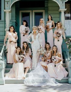 Mad Maven Style's Marie Antoinette Meets Southwestern-Inspired Wedding — Part 1 blush bridesmaid dresses Bridesmaid Poses, Blush Bridesmaid Dresses, Brides And Bridesmaids, Bride And Bridesmaid Pictures, Wedding Dresses, Bridesmaid Flowers, Wedding Picture Poses, Wedding Photography Poses, Wedding Poses