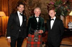 HRH Prince Charles and friends - Max Whitlock and Sir Paul Smith - celebrate his…