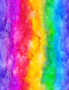 Rainbow Wallpaper, Colorful Wallpaper, Graffiti, How To Make Pillows, Fabric Online, Abstract Watercolor, Digital Prints, Branding Design, Witch