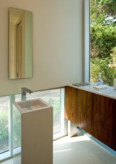 move sink to face out with better faucet