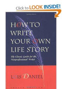 How to write a book of your own life